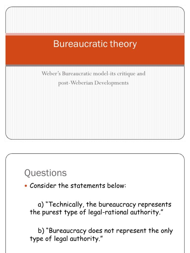 the bureaucratic model