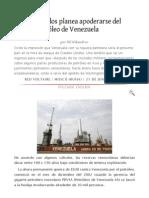 Estados Unidos Planea Apoderarse Del Petroleo de Venezuela