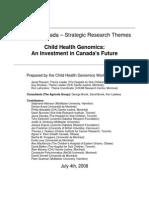 Genome Canada – Strategic Research Themes