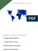 Inter Nationalization & Market Entry