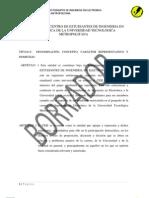 Estatuto Del Centro Estudiantes de Ingenieria en Electronic A de La Universidad Tecnologica Metropolitan A v1.03
