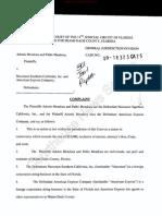 Mendoza vs Narconon Southern California & American Express. Complaint filed by Mendoza brothers.