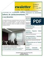Newsletter 1 Facultad de Educación, Universidad Mayor