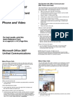 Communicator 2007 Quick Reference Card PhoneandVideo