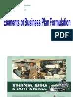 Elements of Business Plan Preparation