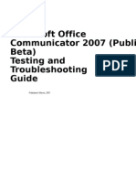 Communicator 2007 Testing Guide