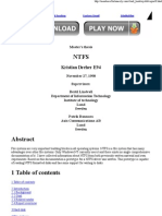 Master's Thesis on NTFS
