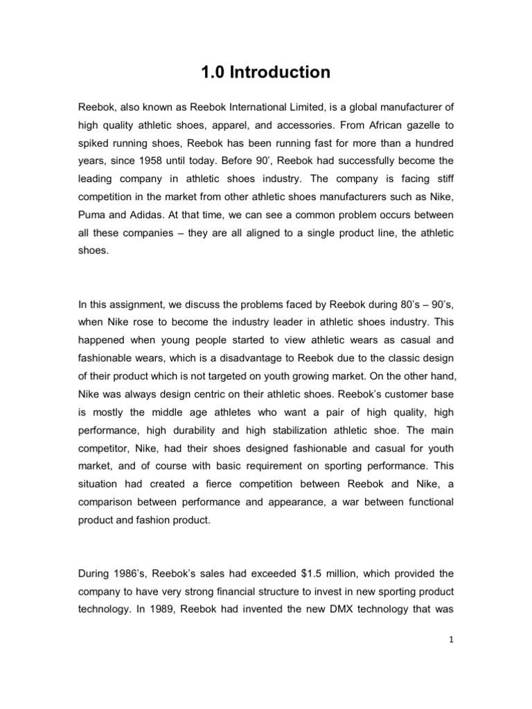 introduction of reebok company