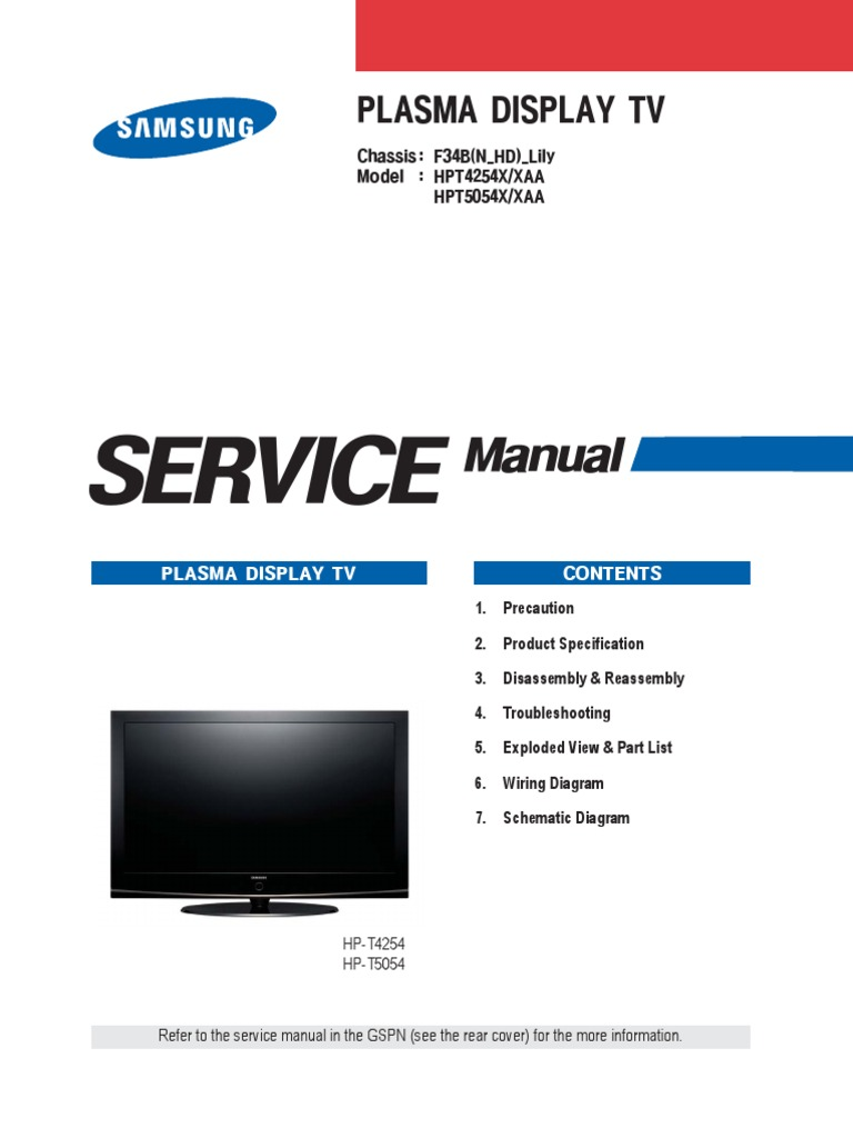 samsung hp t4254 service manual repair guide