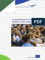 La educación para la ciudadanía en el contexto escolar europeo