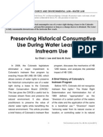 Preserving the Historical Consumptive Use of Water Leased for Instream Use
