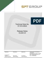 OLGA 6 Release Note