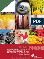 Raport Odpowiedzialny Biznes w Polsce 2010