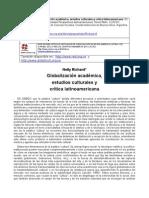 NELLY RICHARD  Globalización académica, estudios culturales y crítica latinoamericana