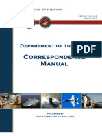 Secnav m 5216 5 Don Correspondence Manual