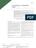 Affections génétiques et congénitales des paupières