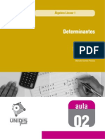 Álgebra Linear I - Aula 02 - 560 - Determinantes