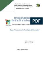 """Proyecto de Capacitación Docente """"Uso De Las TIC En Los Procesos Educativos"""""""