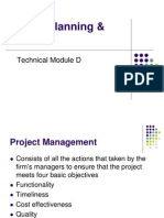 Tehnical Module D -Project Planning & Control