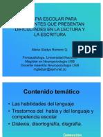 Terapia Escolar Lectura Escritura 2005