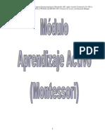 Modulo Aprendizaje Activo-montesori