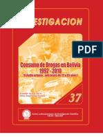 Consumo de Drogas en Bolivia 1992-2010