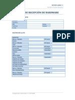 Ficha de Recepción de Hardware de una PC