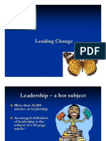 Leading Change - Overview
