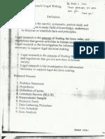 Legal Writing 1