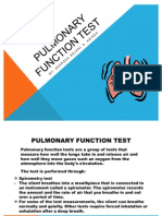 Pulmonary Function Test and Sputum Culture