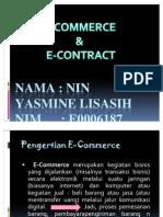 E-commerce & e-contract / Nin Yasmine Lisasih