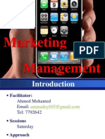 MM Lecture 1 - Marketing Management