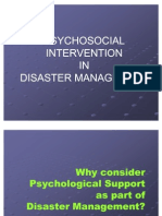 Psycho Social Intervention Disasater