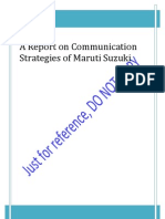 Maruti Communication Strategy