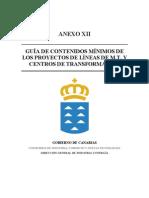 Guia de Contenidos Minimos de Los Proyectos de Lineas de M.T y Centros de Transformacion