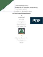 A Summer Internship Project Report On