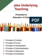 Principles Underlying Teaching