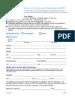 GDTP Certification Application Form