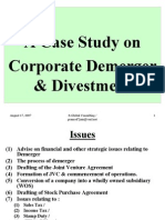 Presentation on Corporate Demerger & Divestment-For Circulation