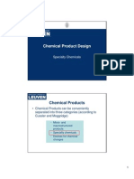 Chemical Product Design PartI Speciality Chemicals