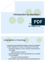 Introduction to Statistics 1