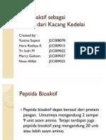 Peptida Bioaktif Sebagai Antikanker Dari Kacang Kedelai