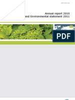 European Environment Agency Annual Report 2010 and Environmental Statement 2011