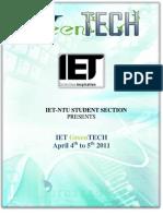 IET GreenTECH 2011 Proposal