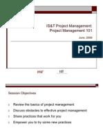 IT Project Management 101