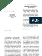 CAÑAL, Pedro (2002)  EL PROFESORADO Y LA INNOVACION EDUCATIV