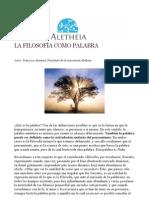 LA FILOSOFÍA COMO PALABRA