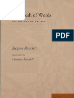 Ranciere Flesh of Words Politics of Writing 2004