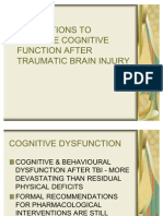 Medications to Improve Cognitive Function in Traumatic Brain Injury