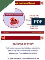Punjab National Bank- Financial Inclusion